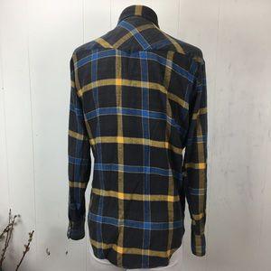 Lariat Shirts - Lariat 100% Cotton Western Plaid Flannel Medium